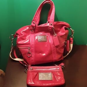 Authentic Coach Poppy Handbag & wristlet set